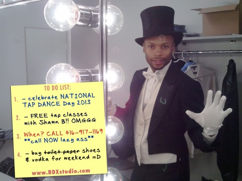 National tap dance day Toronto with choreographer Shawn Byfield